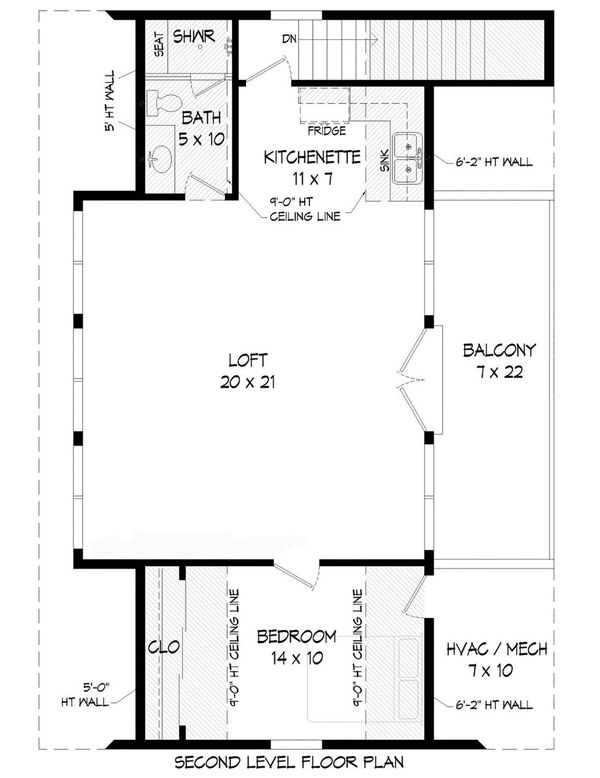 Dream House Plan - Traditional Floor Plan - Upper Floor Plan #932-356