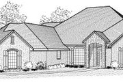 Traditional Style House Plan - 3 Beds 3 Baths 3334 Sq/Ft Plan #65-456 Exterior - Front Elevation