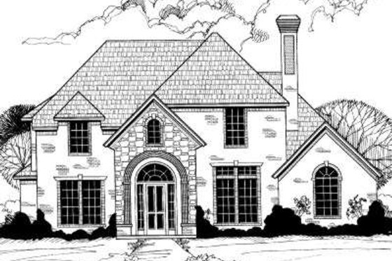 European Exterior - Front Elevation Plan #317-119