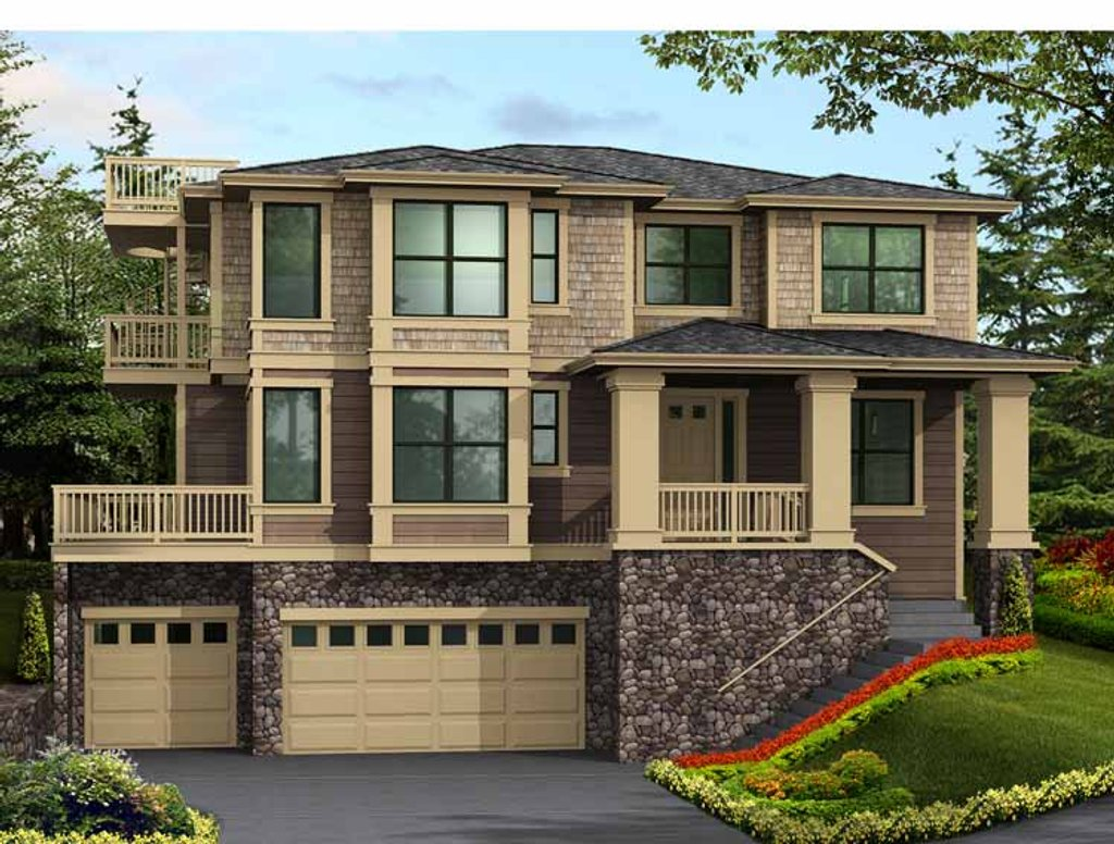 Prairie style house plan 4 beds 3 5 baths 3946 sq ft for Www homeplans com