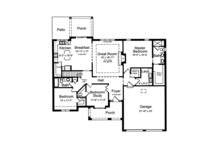 Cottage Floor Plan - Main Floor Plan Plan #46-844