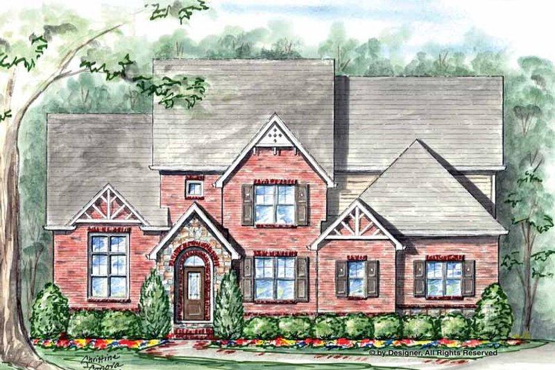 Traditional Exterior - Front Elevation Plan #54-346 - Houseplans.com