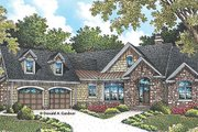 European Style House Plan - 4 Beds 3 Baths 2195 Sq/Ft Plan #929-958 Exterior - Front Elevation