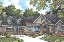 European Exterior - Front Elevation Plan #929-958