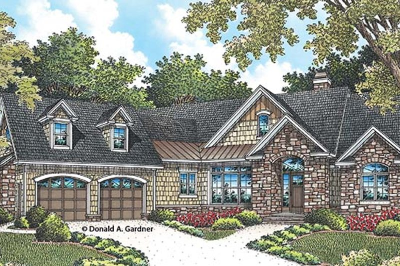 European Exterior - Front Elevation Plan #929-958 - Houseplans.com