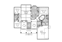 Craftsman Floor Plan - Main Floor Plan Plan #417-797