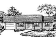 Ranch Style House Plan - 3 Beds 2 Baths 1092 Sq/Ft Plan #30-107 Exterior - Front Elevation