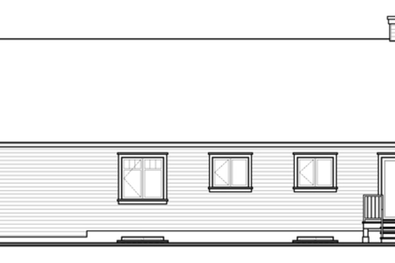 Country Exterior - Rear Elevation Plan #23-2570 - Houseplans.com
