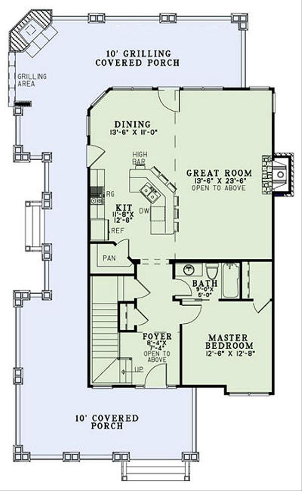 Country Floor Plan - Main Floor Plan Plan #17-2452