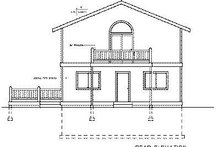 Architectural House Design - Contemporary Exterior - Rear Elevation Plan #102-204
