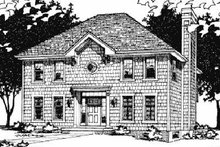 Dream House Plan - Colonial Exterior - Front Elevation Plan #20-633