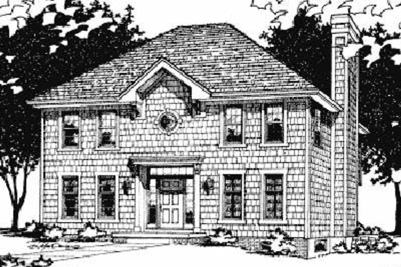 Colonial Exterior - Front Elevation Plan #20-633