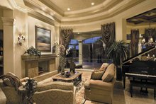 Mediterranean Interior - Family Room Plan #930-416