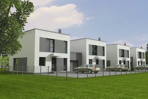 Contemporary Exterior - Front Elevation Plan #538-15