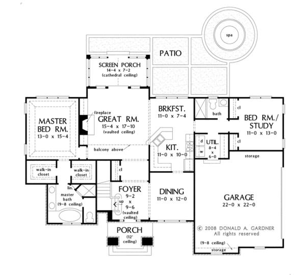 Country Floor Plan - Main Floor Plan Plan #929-926