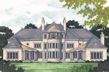 European Exterior - Rear Elevation Plan #453-472