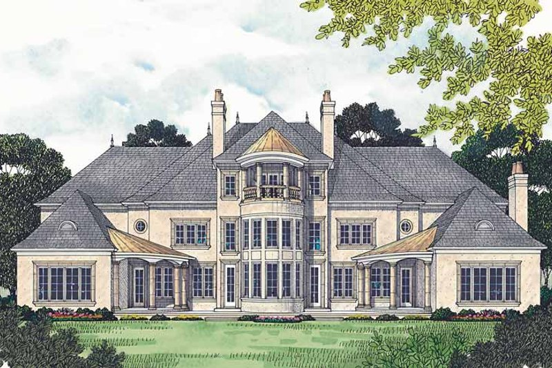 European Exterior - Rear Elevation Plan #453-472 - Houseplans.com