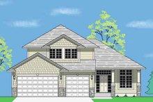 House Plan Design - Prairie Exterior - Front Elevation Plan #981-8