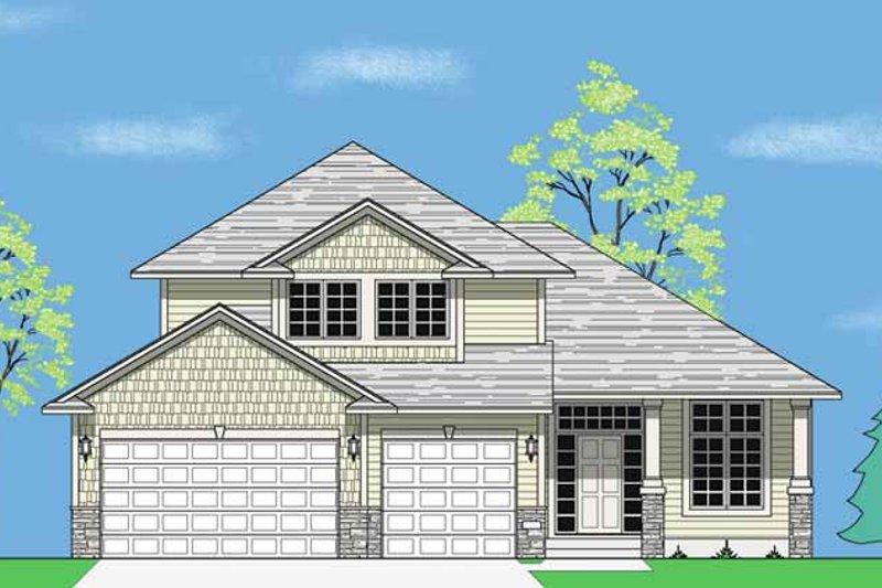 Prairie Exterior - Front Elevation Plan #981-8 - Houseplans.com