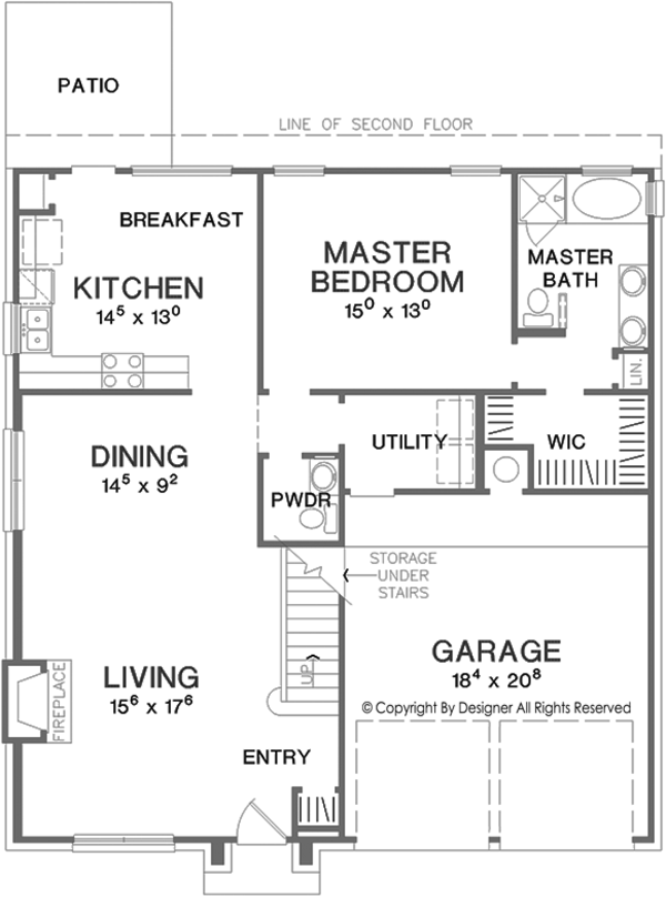 European Floor Plan - Main Floor Plan Plan #472-405