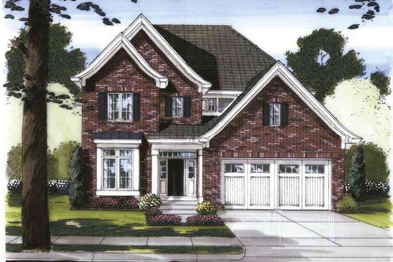House Plan Design - Traditional Exterior - Front Elevation Plan #46-802