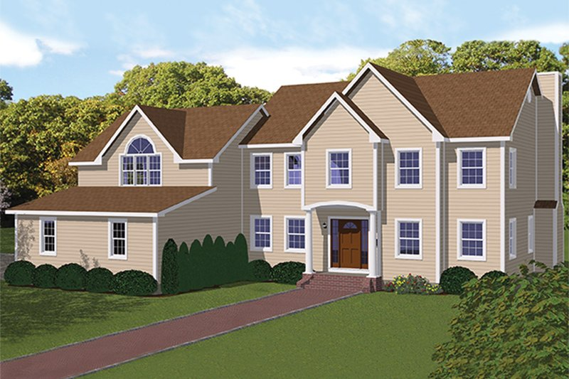 Traditional Exterior - Front Elevation Plan #1061-3 - Houseplans.com