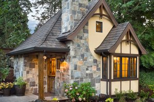 House Plan Design - Storybook tudor cottage floor plan