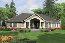 Craftsman Exterior - Rear Elevation Plan #132-205