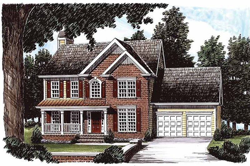 Country Exterior - Front Elevation Plan #927-210