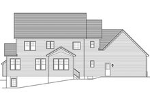 Colonial Exterior - Rear Elevation Plan #1010-65