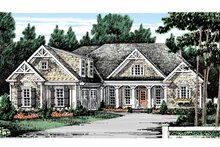 Country Exterior - Front Elevation Plan #927-129