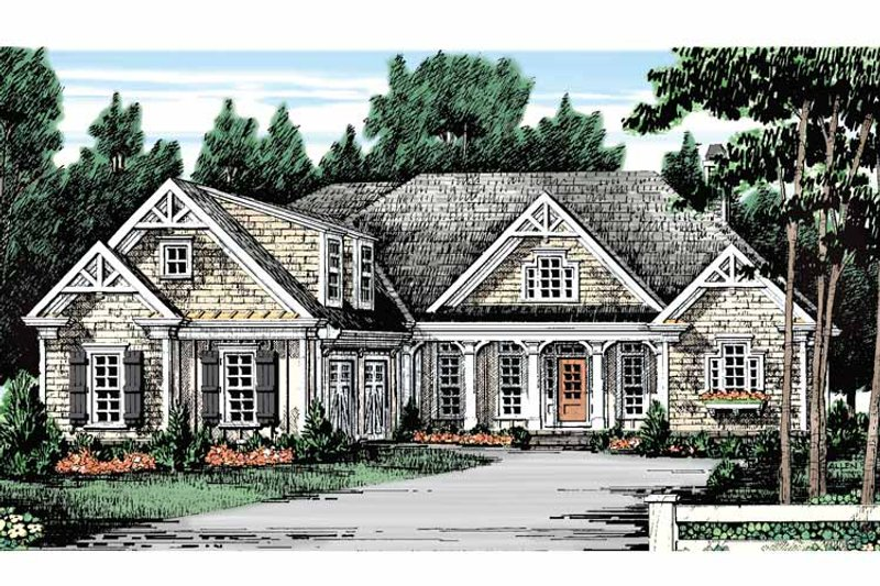 Country Exterior - Front Elevation Plan #927-129 - Houseplans.com