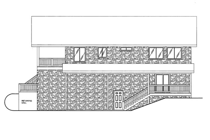 Contemporary Exterior - Other Elevation Plan #117-839 - Houseplans.com