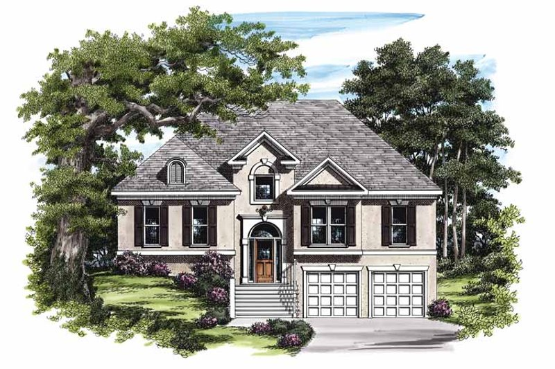 Mediterranean Exterior - Front Elevation Plan #927-130