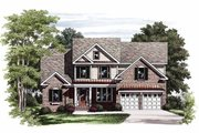 Colonial Style House Plan - 4 Beds 3 Baths 2113 Sq/Ft Plan #927-724 Exterior - Front Elevation