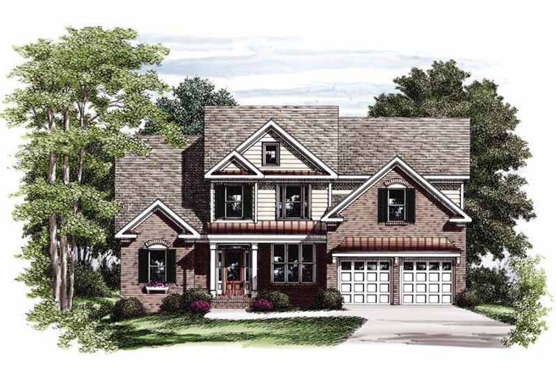 Colonial Exterior - Front Elevation Plan #927-724