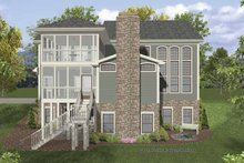 Dream House Plan - Traditional Exterior - Rear Elevation Plan #56-680