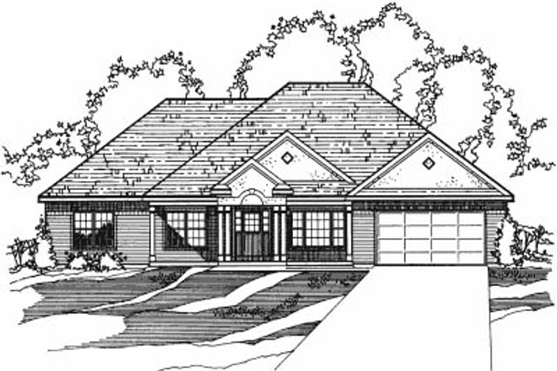 Traditional Style House Plan - 3 Beds 2 Baths 3320 Sq/Ft Plan #31-106 Exterior - Front Elevation