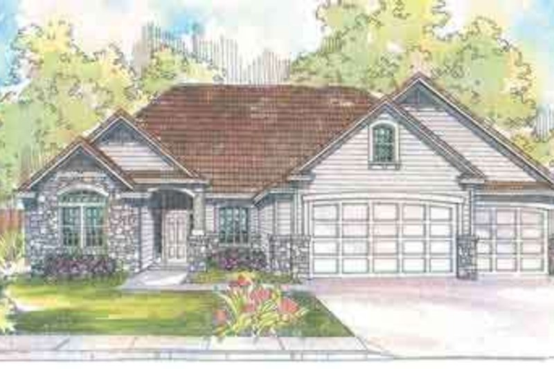 Craftsman Exterior - Front Elevation Plan #124-494