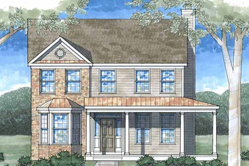 Country Exterior - Front Elevation Plan #1029-7 - Houseplans.com