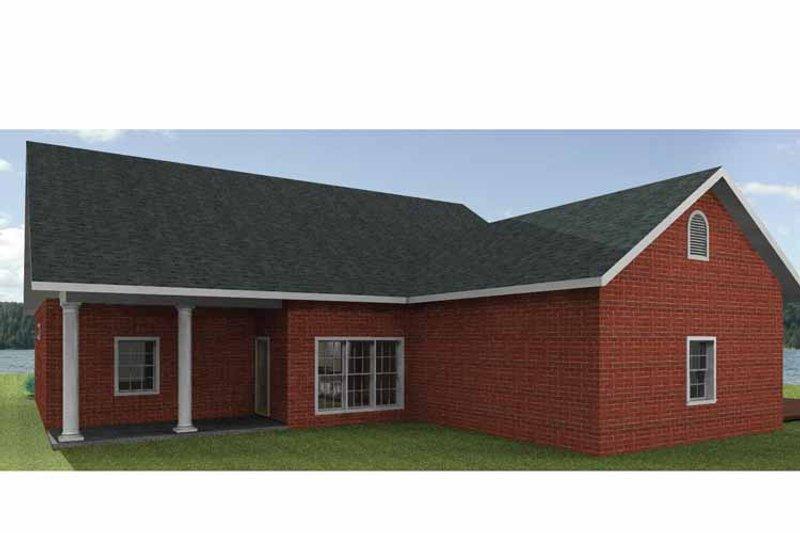 Country Exterior - Rear Elevation Plan #44-209 - Houseplans.com