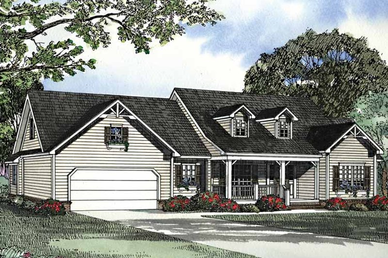 Country Exterior - Front Elevation Plan #17-3246 - Houseplans.com