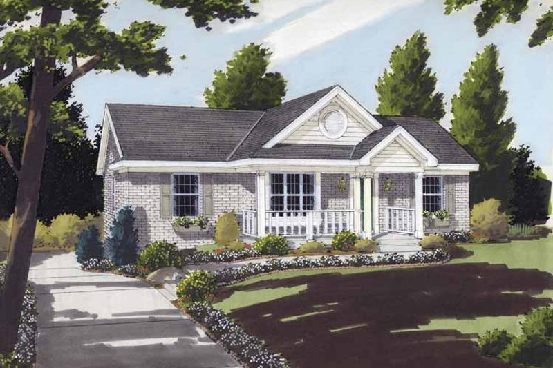 Country Exterior - Front Elevation Plan #46-643