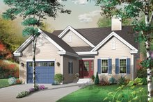 Architectural House Design - Ranch Exterior - Front Elevation Plan #23-2331