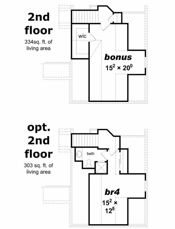 House Plan - 4 Beds 3 Baths 2119 Sq/Ft Plan #329-336 Floor Plan - Upper Floor Plan