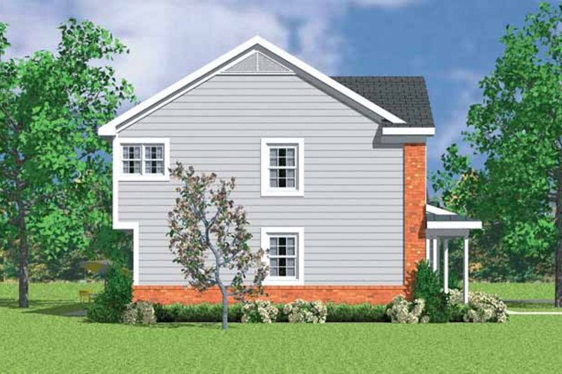 Country Exterior - Other Elevation Plan #72-1108 - Houseplans.com