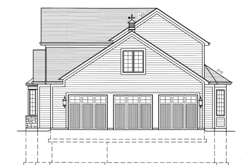 Country Exterior - Other Elevation Plan #46-428 - Houseplans.com