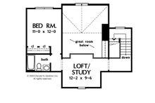 Craftsman Floor Plan - Upper Floor Plan Plan #929-902