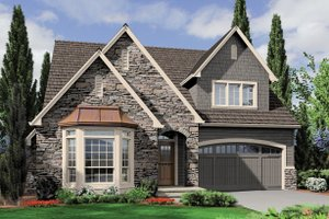 Front View - 2200 square foot Cottage plan