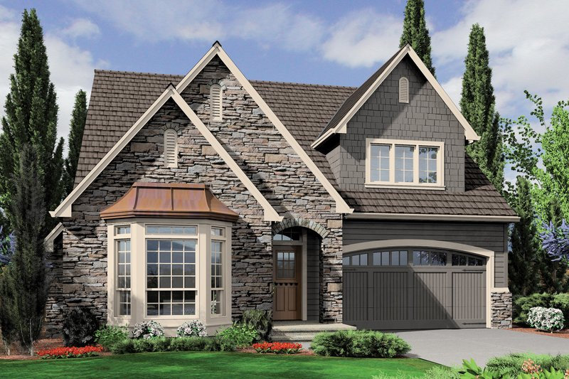 Architectural House Design - Front View - 2200 square foot Cottage plan